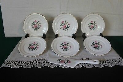 The Harker Pottery Company Set of Dessert Plates and Dessert Server
