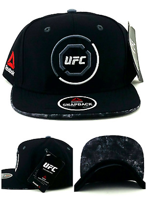 dabf457c57e UFC Reebok New RBK MMA Black Red Gray Octagon Fighter s Era Snapback Hat Cap