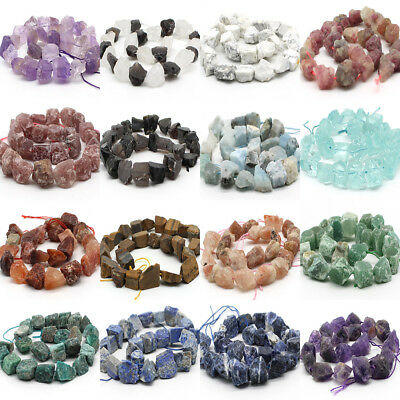 """Freeform Natural Stone Chips Beads For Jewelry Making 15"""" 20-28mm"""