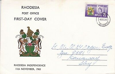 Rhodesia 1965 Independence FDC