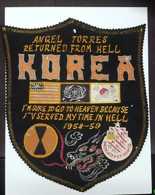Korean War Original Large Jacket Patch Returned from Hell with Dragon. Id'd!