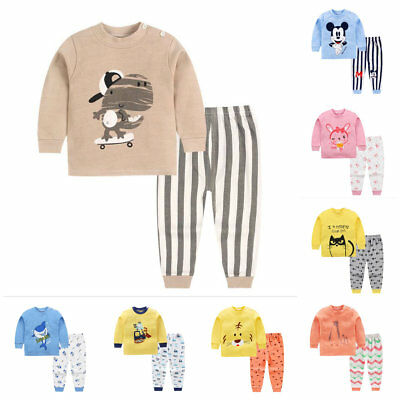 1set baby boy girl clothes sleepwear baby home-wear kids pajamas outfits cartoon