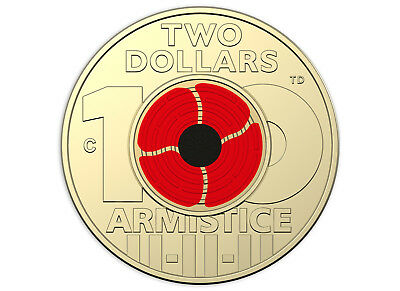2018 $2 'C' Mintmark Uncirculated Coin - Remembrance Day Armistice Centenary