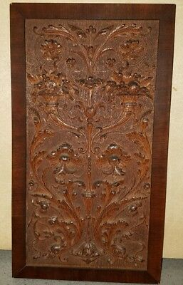 Antique 1800s Hand Crafted Wood Panel