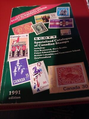scott specialized catalogue of canadian stamps 1991 edition  by  Unitrade Press