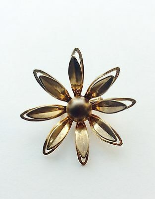 Vintage Small Daisy Pin, Sunflower Gold-tone Brooch, Flower Pin, Hat Pin, Scarf