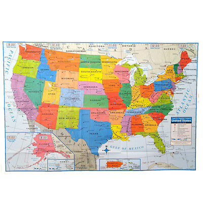 "USA MAP Poster Size Wall Decoration Large MAP of United States 40""x28"" US"