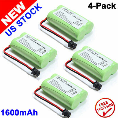 4x Cordless Home Phone Battery For Uniden BT-1007 BT1015 BBTY0700001 2.4V 1600mA