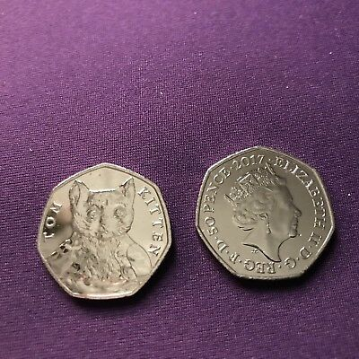 2017 Tom Kitten  Beatrix Potter 50p Fifty Pence coin  - Uncirculated