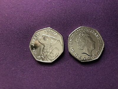 2017 Jeremy Fisher  Beatrix Potter 50p Fifty Pence coin - Uncirculated
