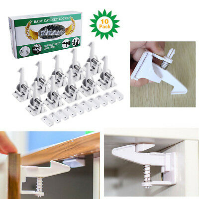 10x Baby Child Safety Adjustable Locks Straps Latches for Cupboard Cabinet Door