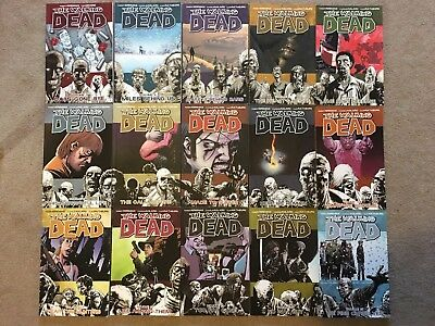The Walking Dead Graphic Novel Comic Book Collection 1-15