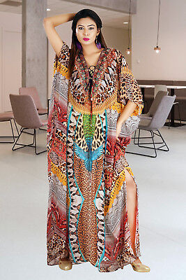 d09a3fbbda Floor length Beach kaftan dress for woman beaded/beach wear/one piece  jeweled