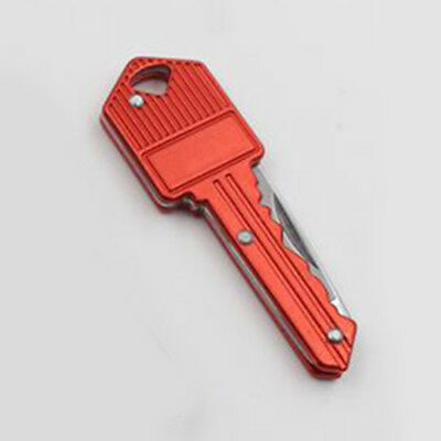 1pc Red Key Folding Cutter Multifunctional Outdoor Keyring Tool Vintage