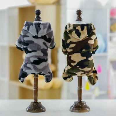 Pet Dog Clothes SWEATER Chihuahua Puppy Camouflage Hooded Coat Jacket Clothes