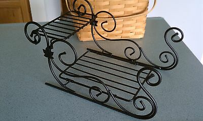 Longaberger Wrought Iron Sleigh   NEW in box  Ready to ship!