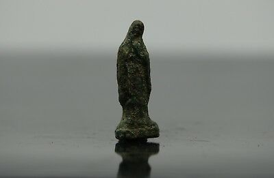 Ancient Medieval Period Bronze Amulet Figure  1000-1100 AD