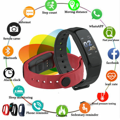 Smart Bracelet Watch Wristband Fitness Tracker Blood Pressure Heart Rate Monitor