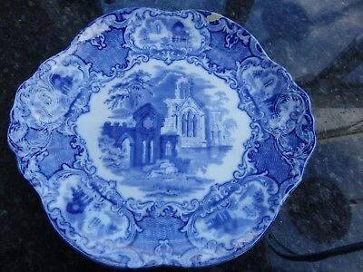 Small Blue & White Oval Plate George Jones & Sons - Abbey 1790