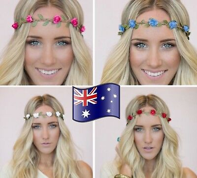 Boho Women Girls Floral Flower Hair Band Headband Beach Garland Crown Wedding