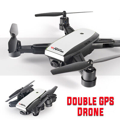5MP Foldable Dual GPS Drone Camera 2.4G Wifi FPV Quadcopter Helicopter Xmas Gift