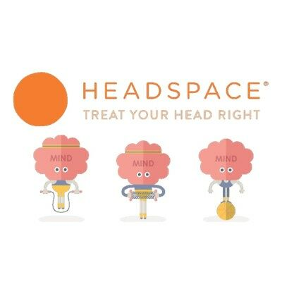 Headspace 1 Month Subscription Meditation Mindfulness App 30 Days iPhone Android