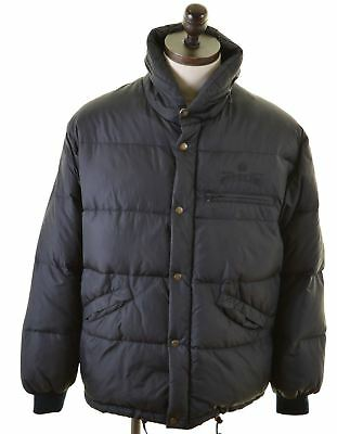 REPLAY Mens Padded Jacket Medium Black Nylon  P311