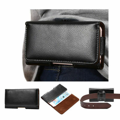 Leather Belt Bum Hoop Clip Pouch Fanny Pack Case Cover Fr iPhone Samsung 5.5inch