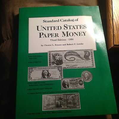 VINTAGE STANDARD CATALOG OF UNITED STATES PAPER MONEY - 3rd EDITION