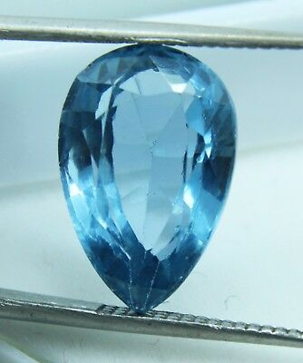 8.75 Ct Natural Pear Cut Transparent Ocean Blue Aquamarine Gem GGL certified