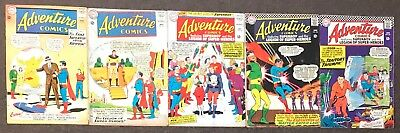Adventure Comics #309,314,337,345,347 DC comics 1963 Legion of Super-Heroes lot
