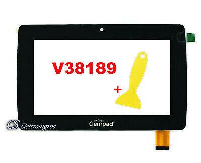 TOUCH SCREEN VETRO Per CLEMENTONI My First Clempad 6.0 Plus V38189 16604