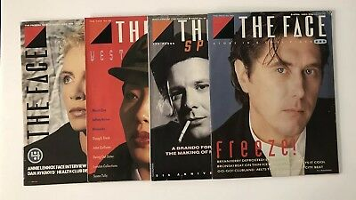 The FACE Magazine Lot of 4 Issues 1985 Annie Lennox Bryan Ferry Mickey Rourke