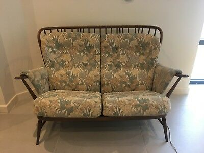 Vintage Set Of Genuine Ercol Cushions For Evergreen 2 Seater Sofa