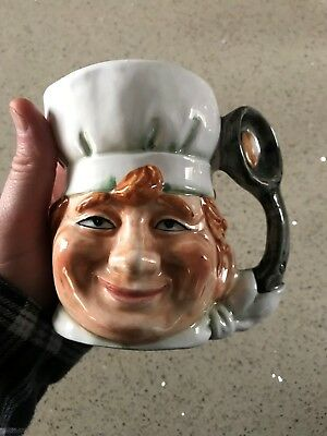 Rare Character Jug Unmarked Chef With Pan