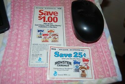 Count Chocula, Boo Berry etc Cereal Coupon, No Expiration, Vintage, Collectible
