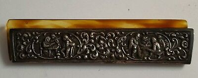 Antique Sterling Silver Comb Cover