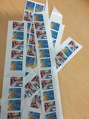 100 X 2nd Class Stamps unfranked ROYAL mail peelable & original strong gum