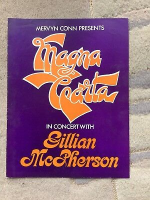 Magna Carta Band Tour Programme 1971