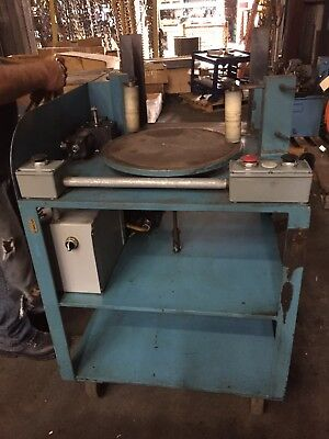 Rotary sanding table, Custom made. Motorized with air operated cylinders