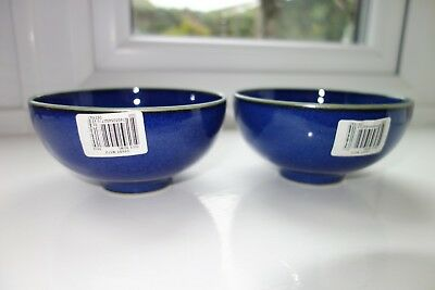 Denby Metz - Two Rice Bowls Unused BNWT- 2nd Quality