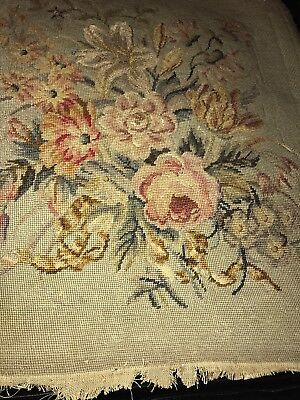 18th Century Needlepoint Tapestry Chair Covering Or Wall Hanging