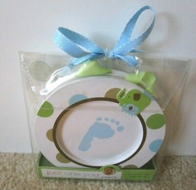 Sealed New CARTER'S FOOTPRINT & HANDPRINT SET Just One You For Boys Blue/Green