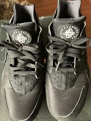 NIKE AIR HUARACHE Mens Shoes Size 12 Running Athletic Sports  Black 318429-003