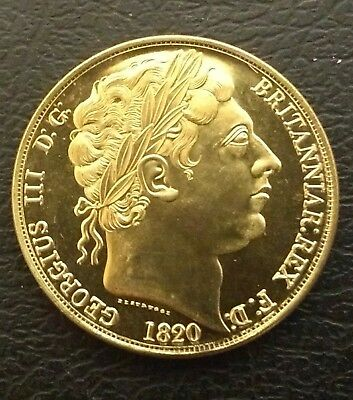 Nice Rare George Iii 1820 Pattern £5 Coin In Uncirculated -Restrike