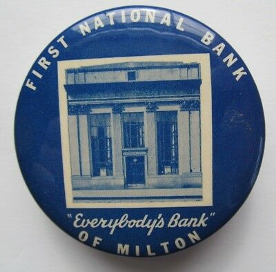 Vintage Celluloid Promotional Dime Bank - First National Bank Milton Pa. FDIC