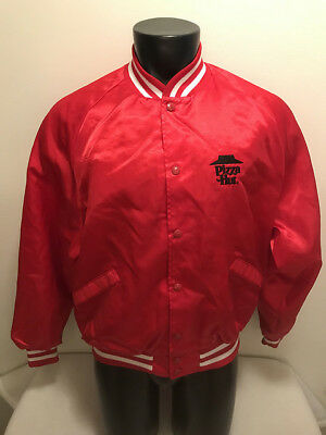 Vintage Pizza Hut Delivery Driver Satin Jacket Mens Size Xl Made In