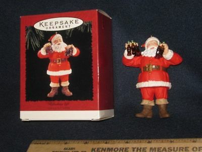 HALLMARK Coca-Cola Santa Refreshing Gift Ornament Dated 1995