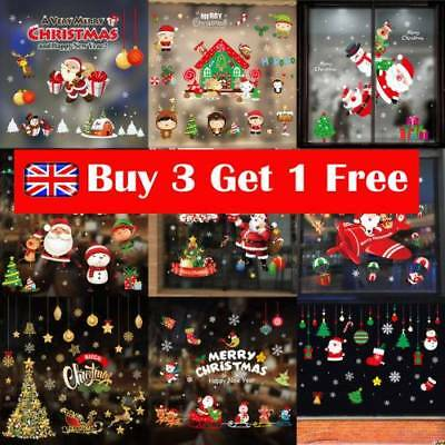 UK Christmas Snowflake Decal Show Window Glass Wall Sticker Vinyl Art Xmas Decor