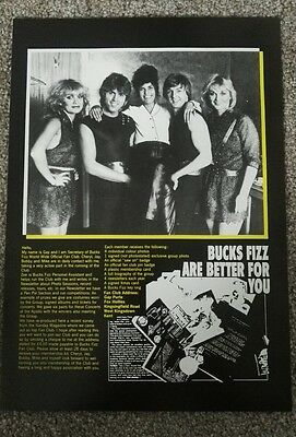 Bucks Fizz fan club application form A4 size